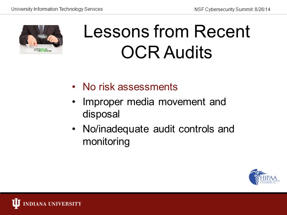 Lessons from Recent OCR Audits