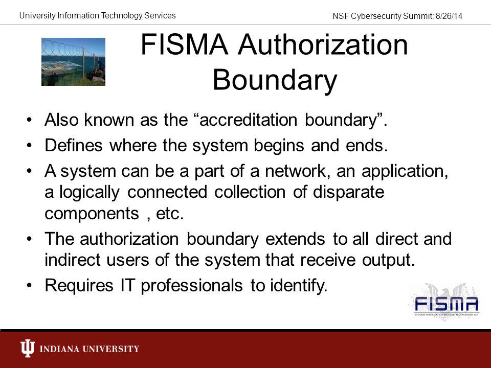 FISMA Authorization Boundary