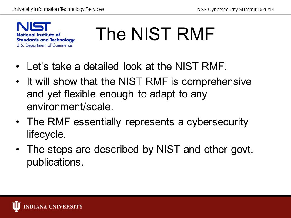 The NIST RMF Let's take a detailed look at the NIST RMF.