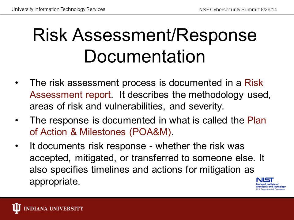 Risk Assessment/Response Documentation
