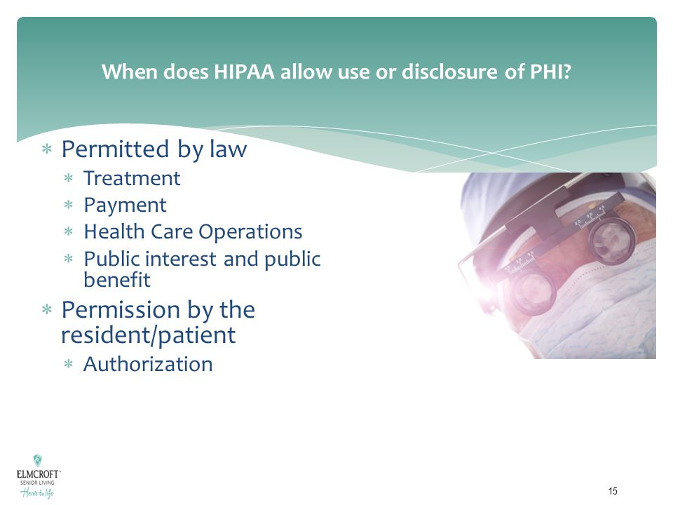 When does HIPAA allow use or disclosure of PHI