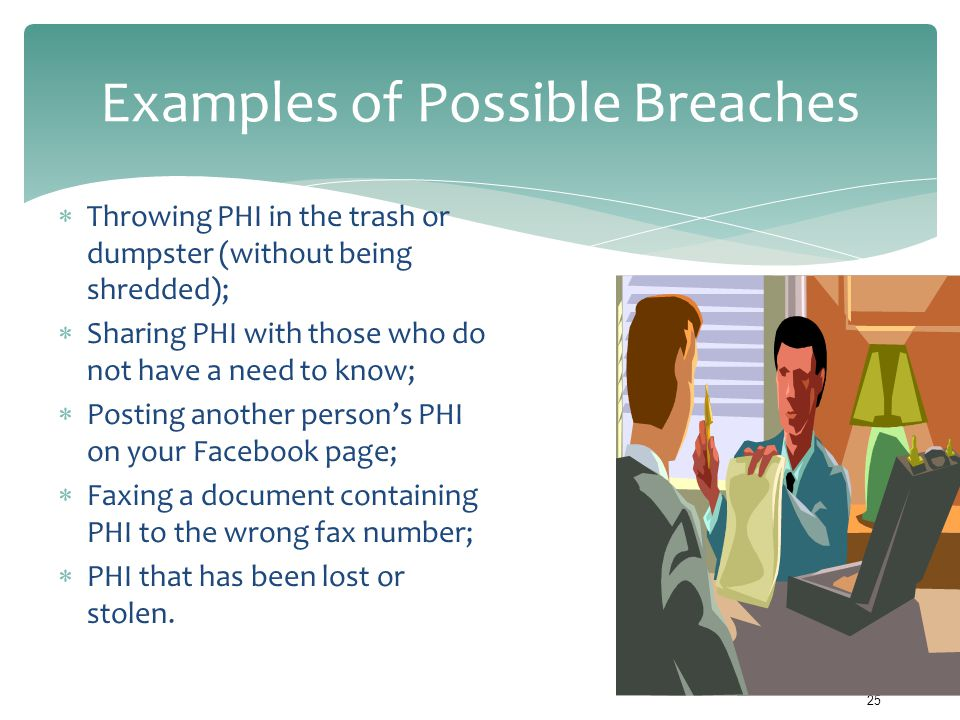 Examples of Possible Breaches