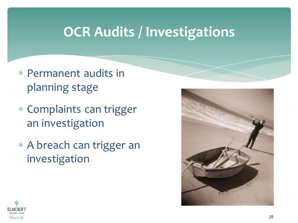 OCR Audits / Investigations