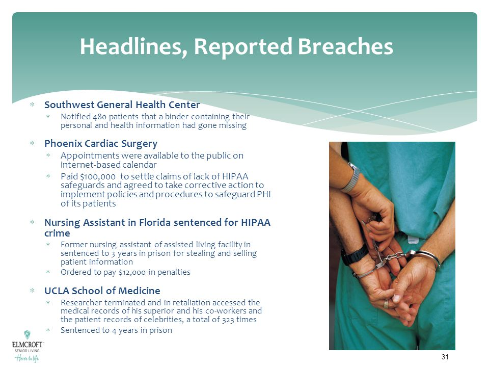 Headlines, Reported Breaches