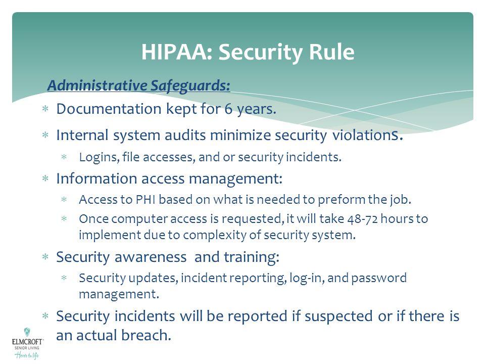 HIPAA: Security Rule Administrative Safeguards:
