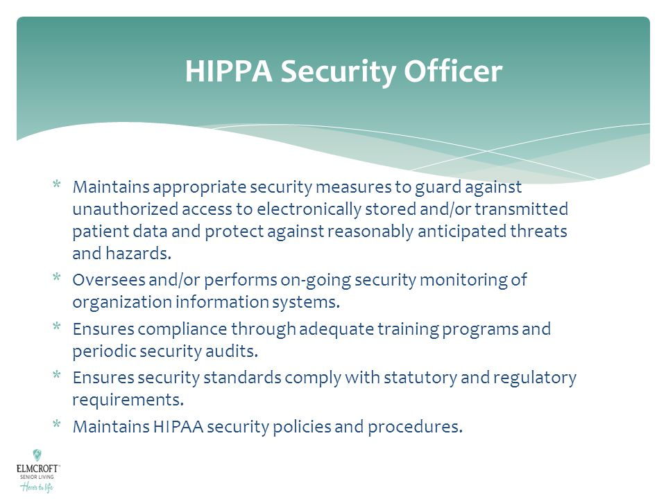 HIPPA Security Officer