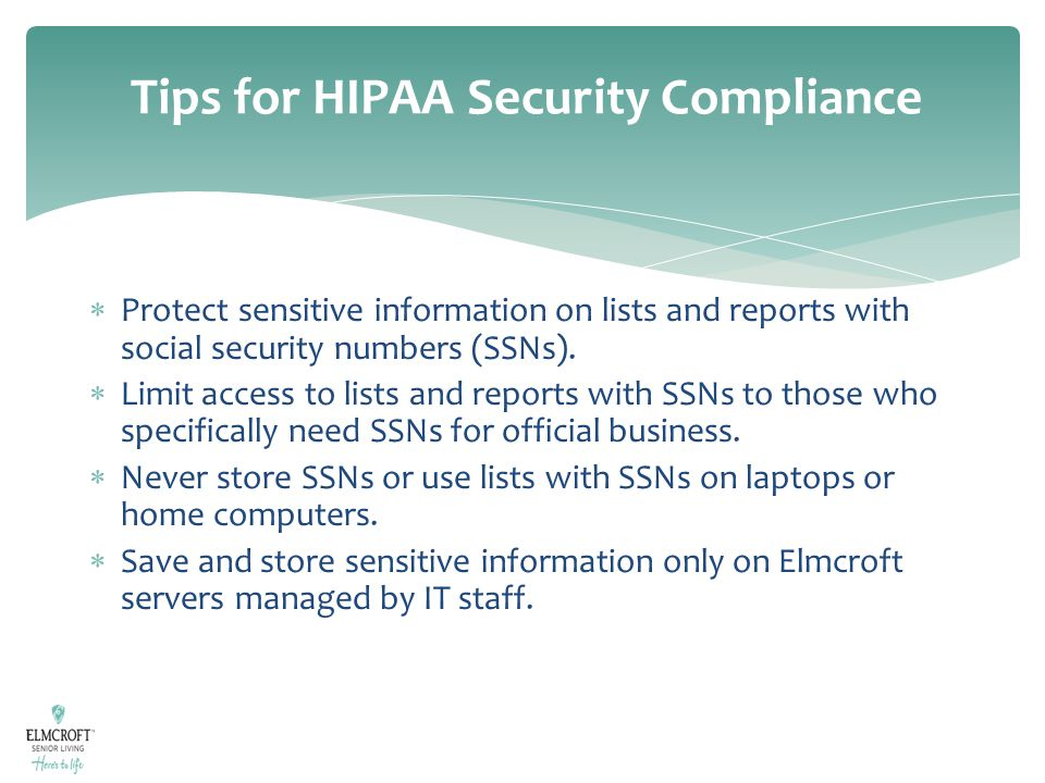 Tips for HIPAA Security Compliance