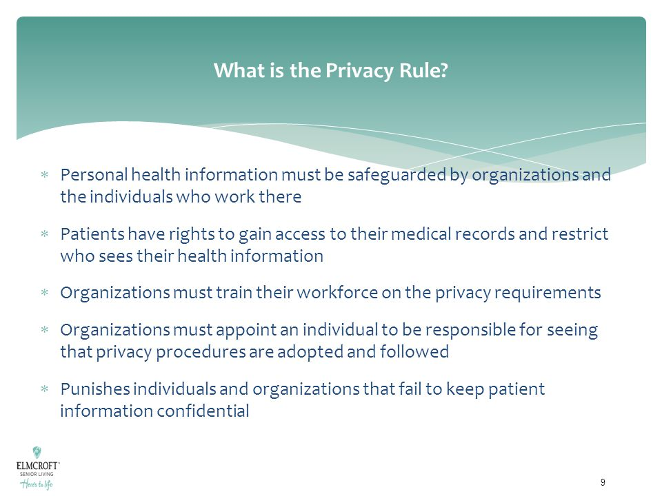 What is the Privacy Rule