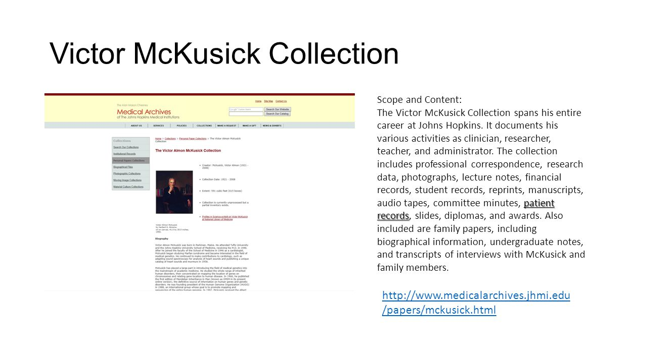 Victor McKusick Collection