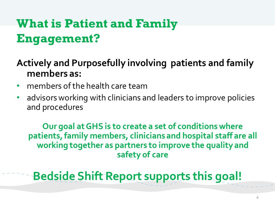 What is Patient and Family Engagement
