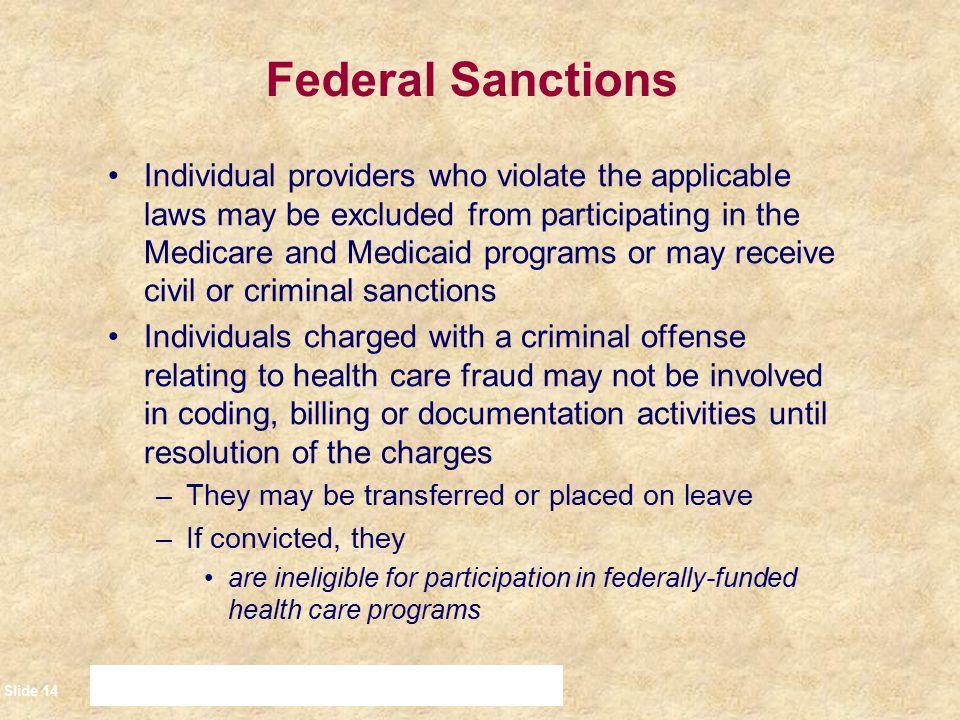 Federal Sanctions