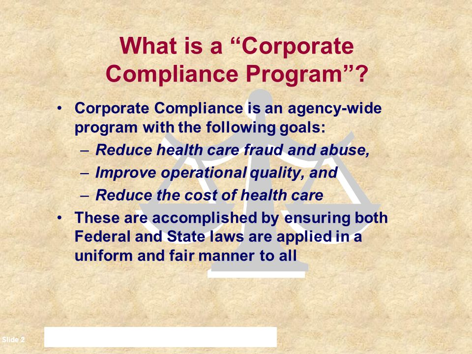 What is a Corporate Compliance Program