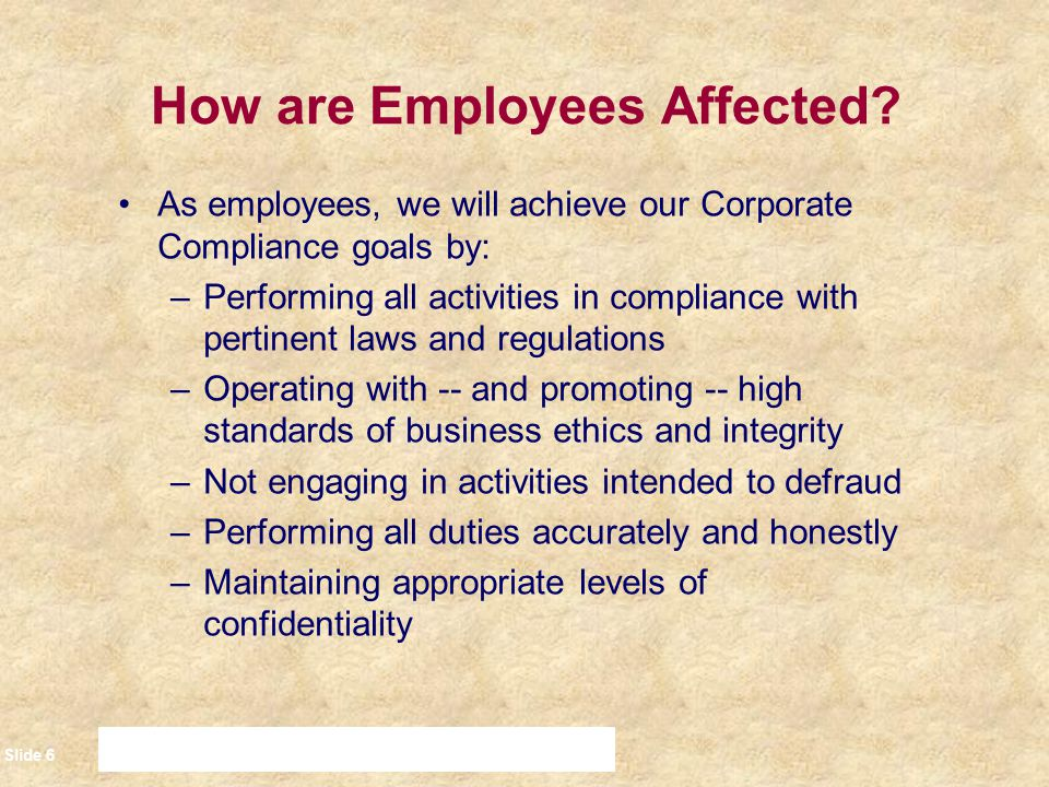 How are Employees Affected
