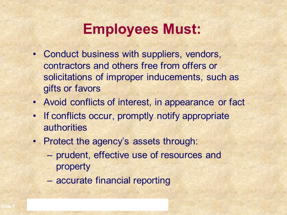 Employees Must: