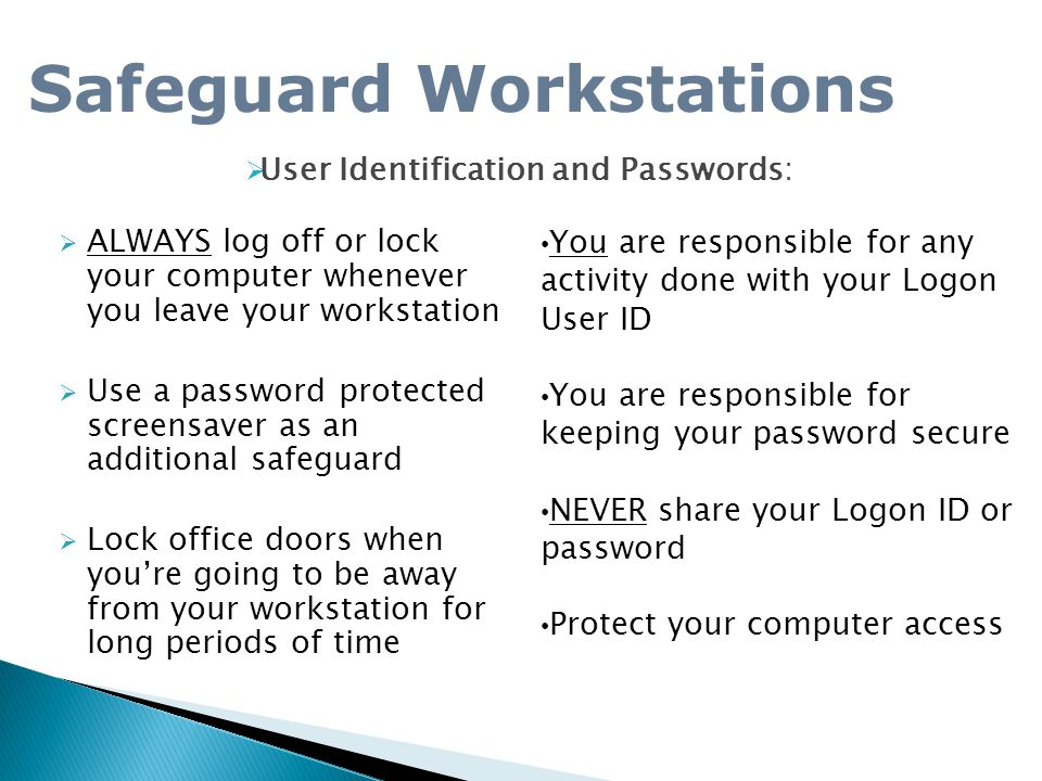 Safeguard Workstations