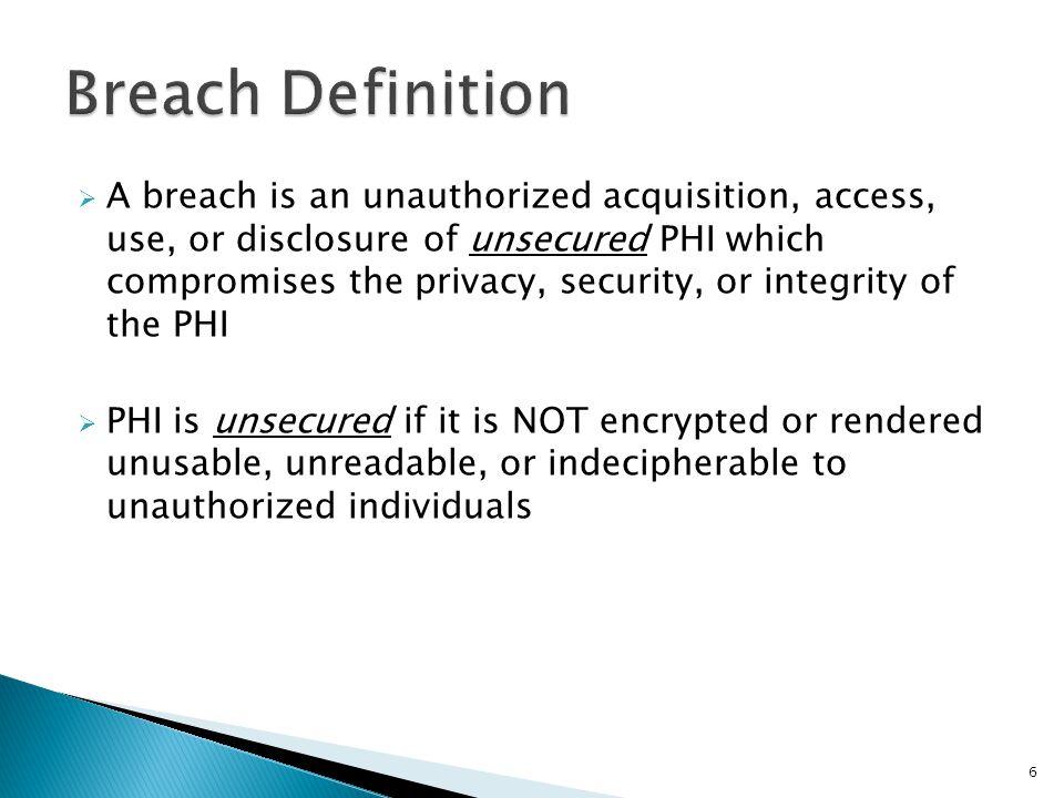 Breach Definition