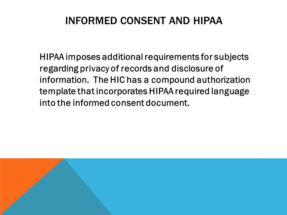 Informed Consent and HIPAA