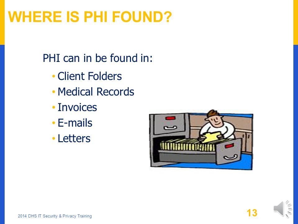 Where is PHI Found PHI can in be found in: Client Folders