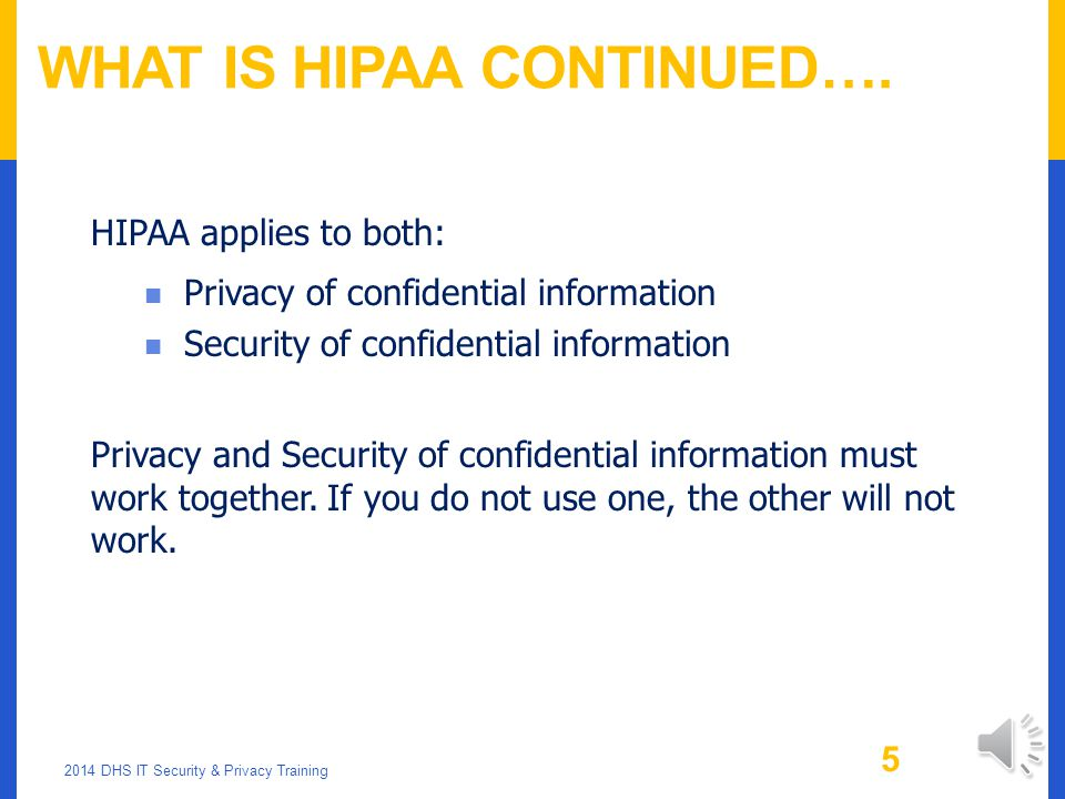 What is HIPAA Continued….
