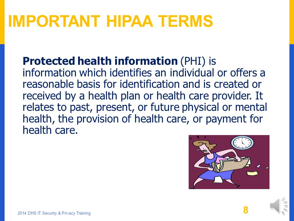 Important HIPAA Terms