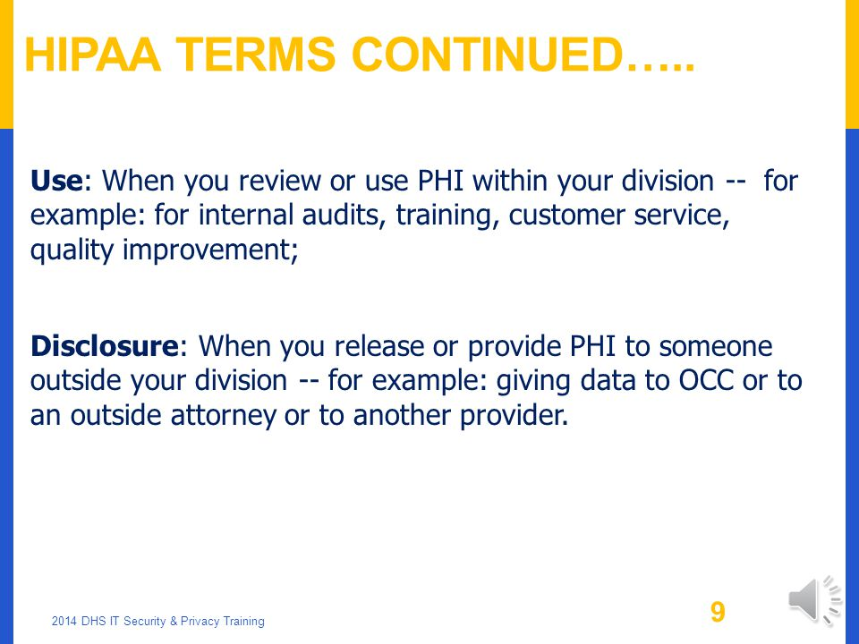 HIPAA Terms Continued…..