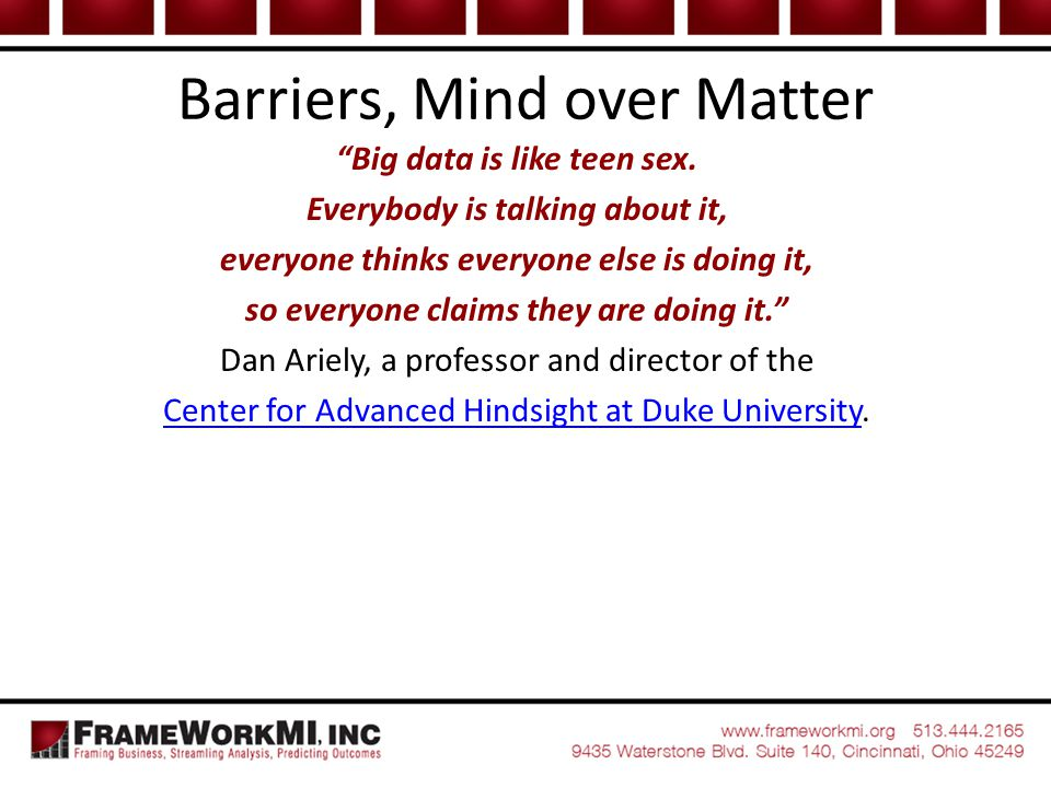 Barriers, Mind over Matter