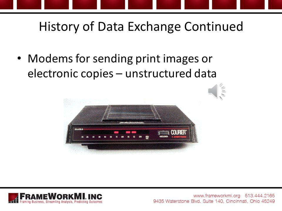History of Data Exchange Continued