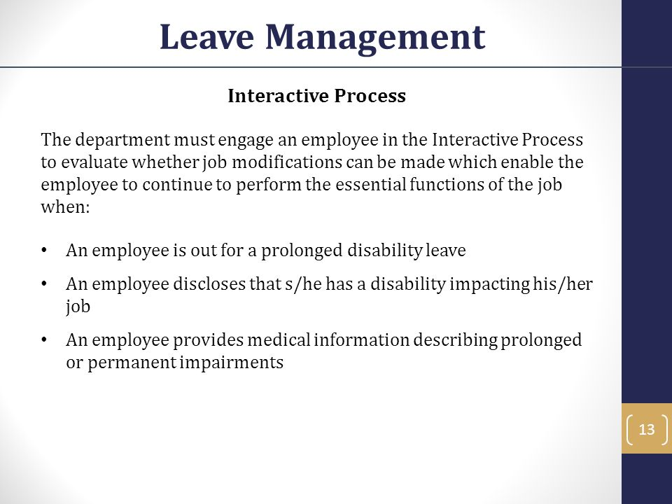Leave Management Interactive Process