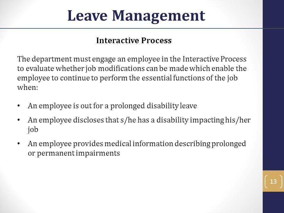 Leave Management Interactive Process