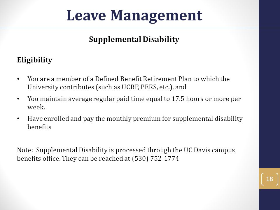 Supplemental Disability