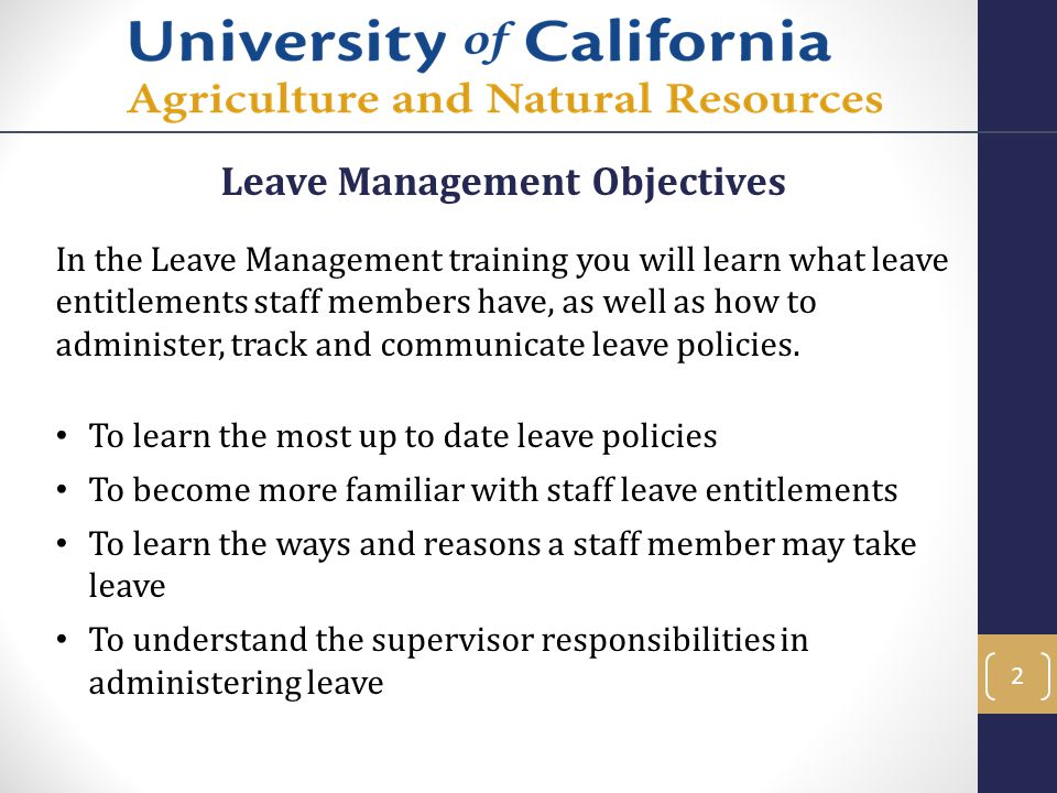 Leave Management Objectives