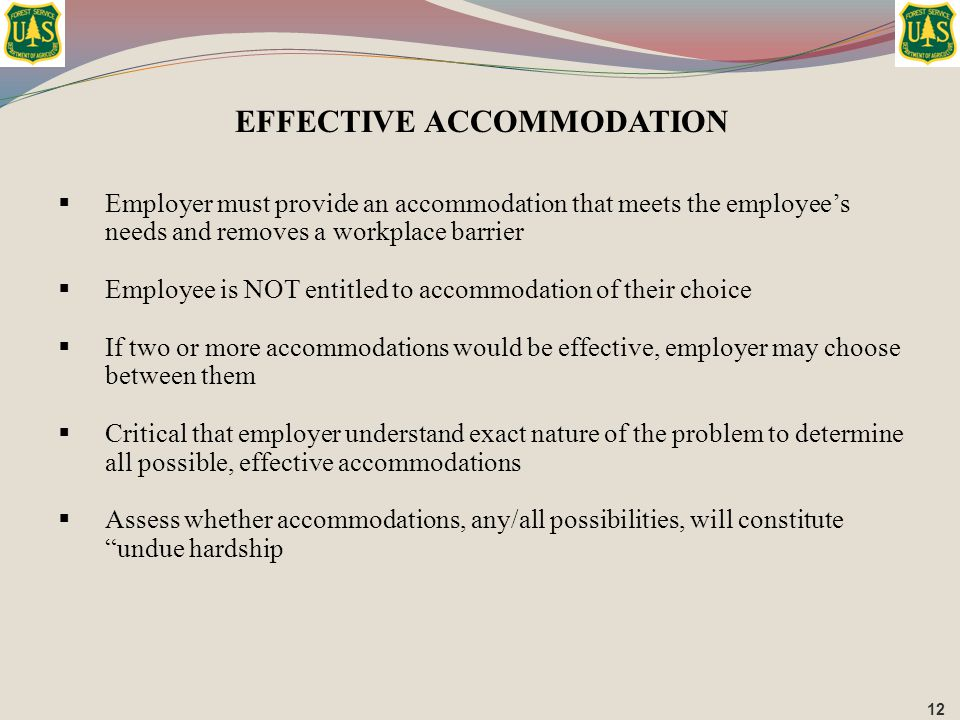 EFFECTIVE ACCOMMODATION