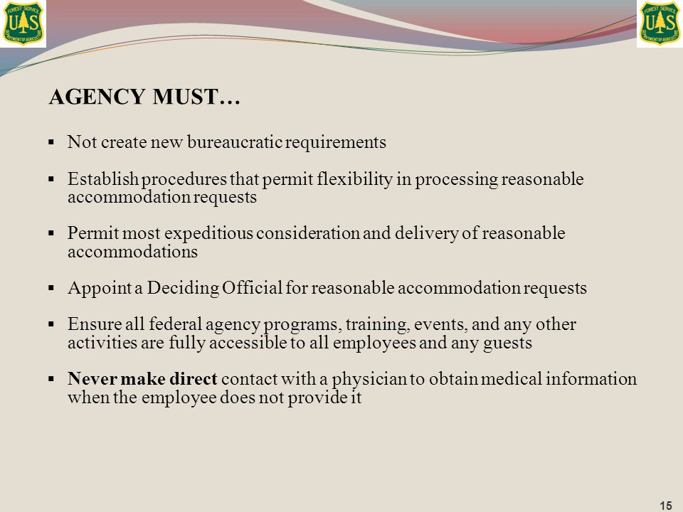 AGENCY MUST… Not create new bureaucratic requirements