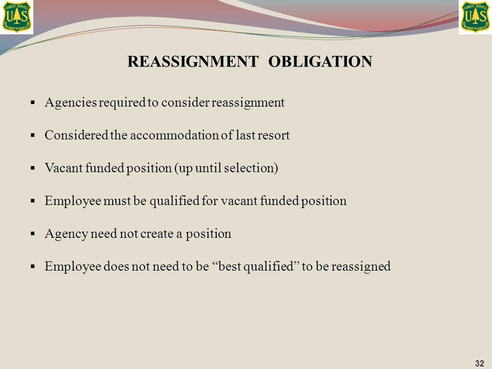 REASSIGNMENT OBLIGATION