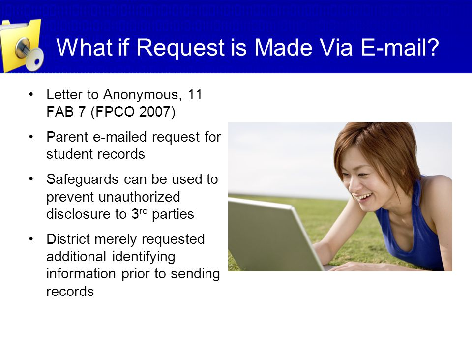 What if Request is Made Via E-mail