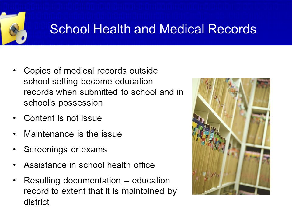 School Health and Medical Records
