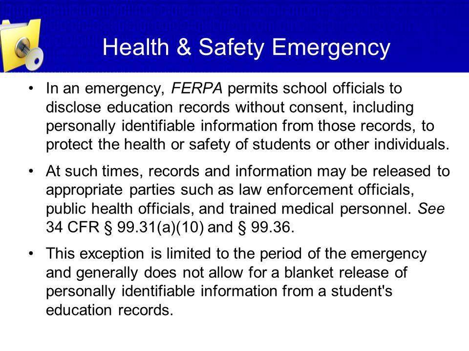 Health & Safety Emergency