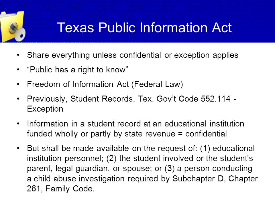 Texas Public Information Act