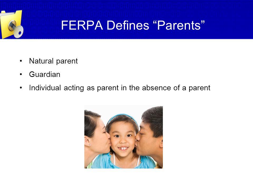 FERPA Defines Parents