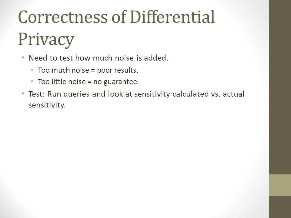 Correctness of Differential Privacy