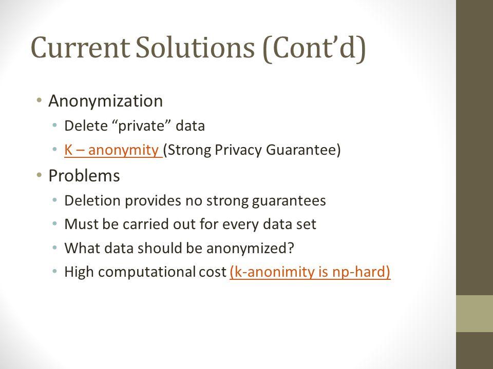 Current Solutions (Cont'd)