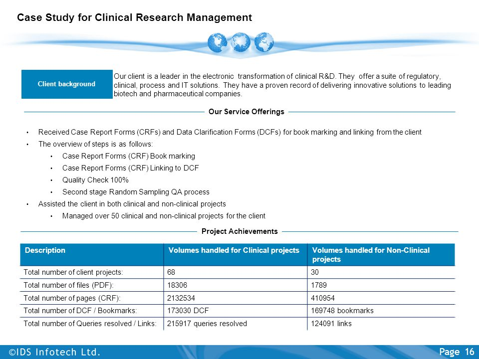 Case Study for Clinical Research Management