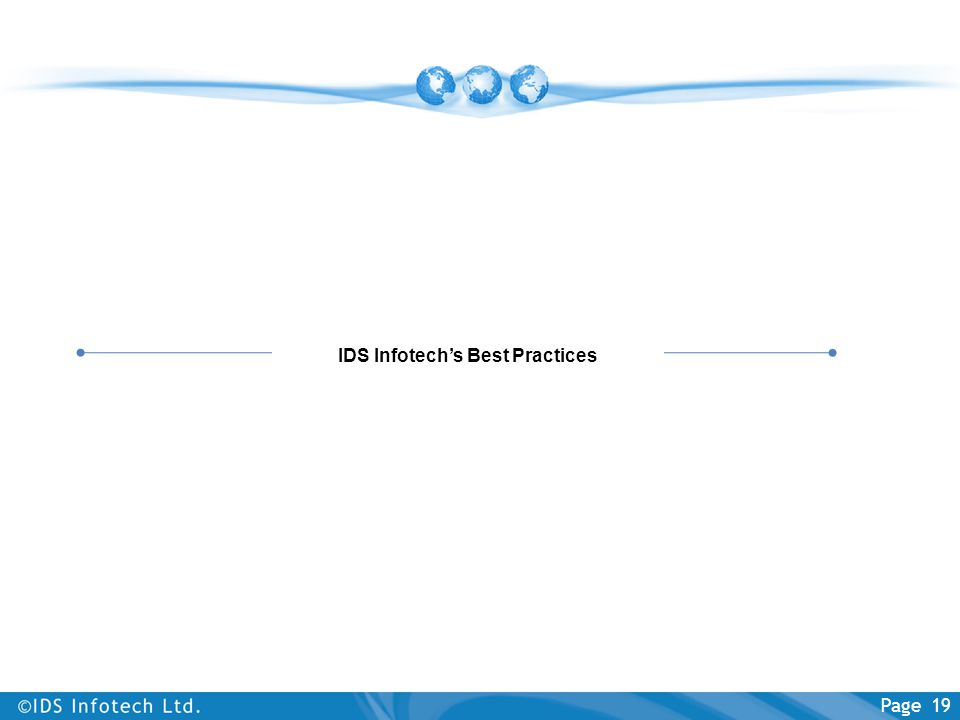 IDS Infotech's Best Practices