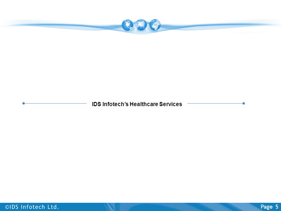 IDS Infotech's Healthcare Services