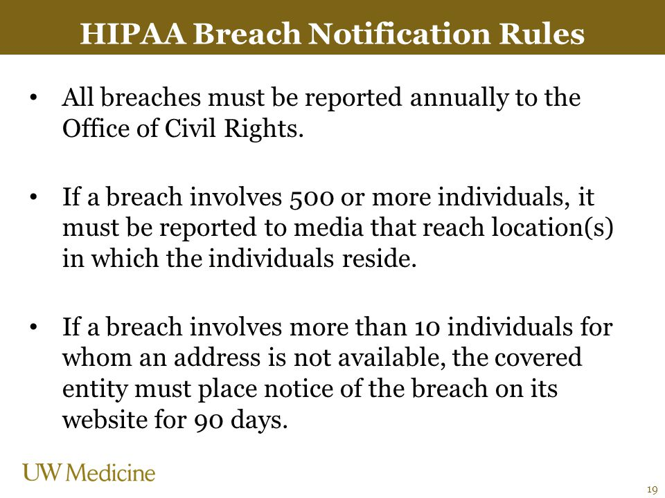 HIPAA Breach Notification Rules