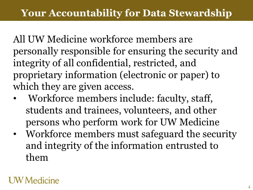 Your Accountability for Data Stewardship