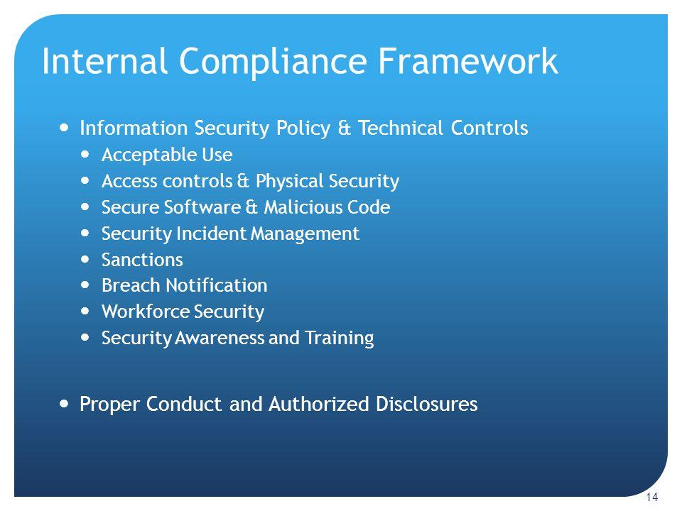 Internal Compliance Framework