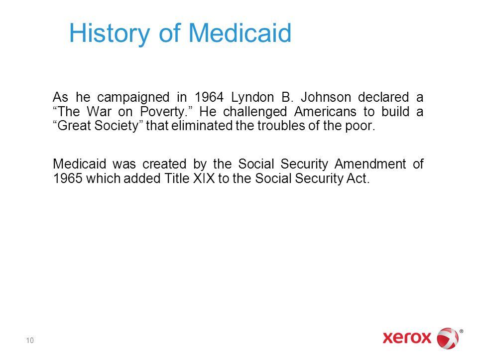 History of Medicaid