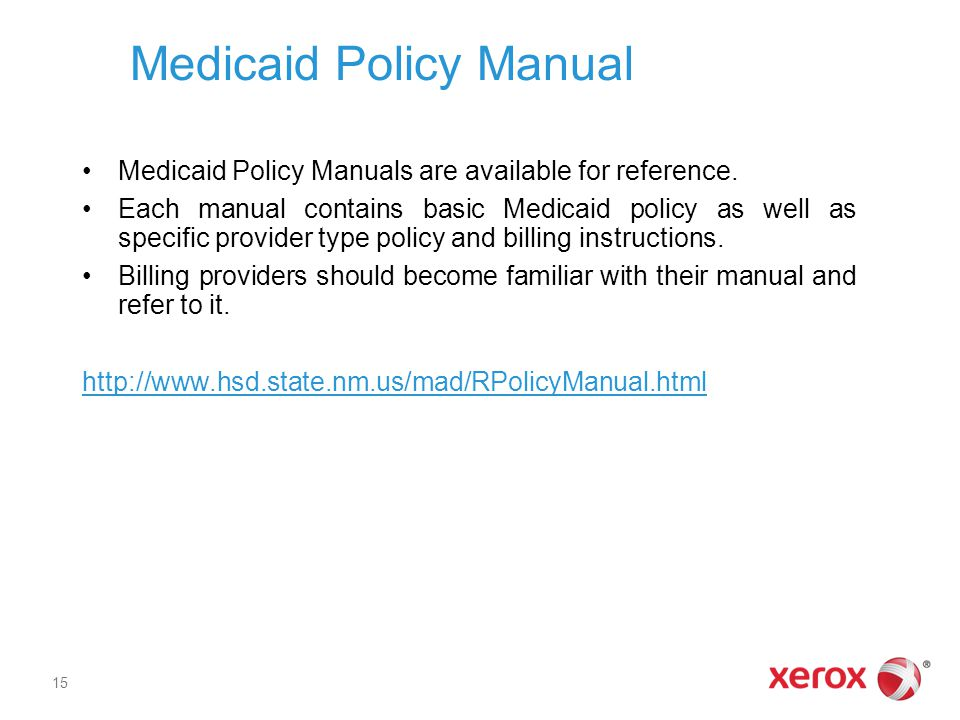 Medicaid Policy Manual