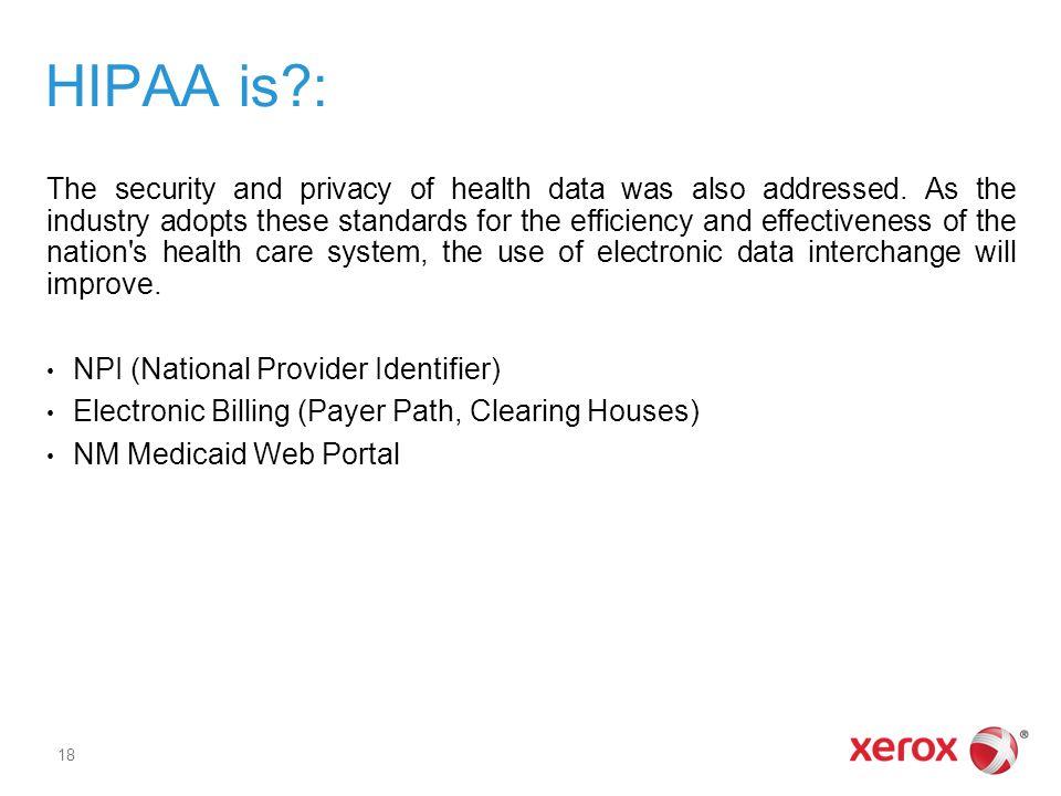 HIPAA is :